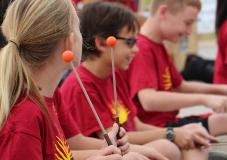 Sierra students playing marimbas