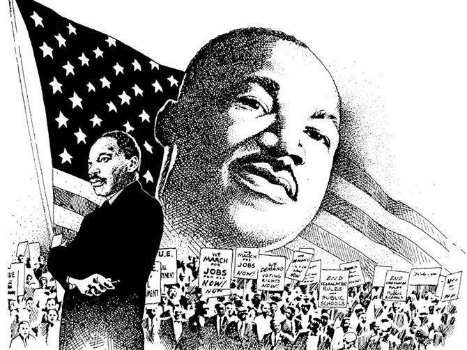 Martin Luther King, Jr. Flag-raising Ceremony, January 17th