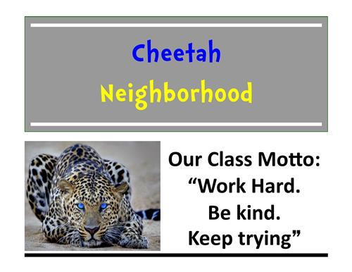 Cheetah Sign