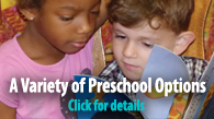 A Variety of Preschool Options