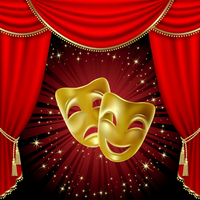 curtain and masks
