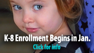 K-8 Enrollment Begins in Jan.