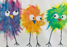 Bird painting by student