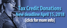 Tax Credit Donations. Click for more info.