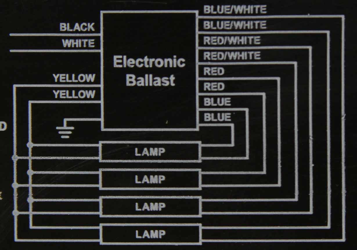 Ballasts 4 Lamp Electronic Ballast Wiring Diagram 800310 120 277 V Rapid Check