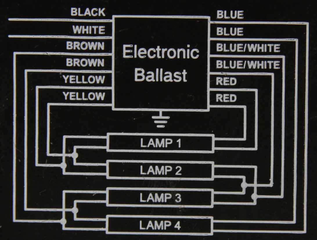 Ballasts 4 Lamp Electronic Ballast Wiring Diagram 800330 120 277 V Rapid Check