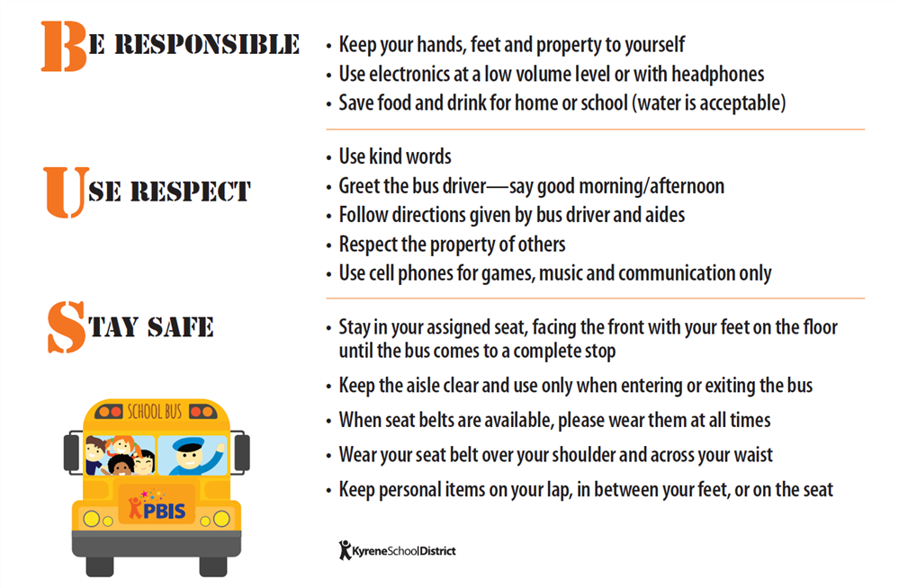 Transportation / Bus Rules