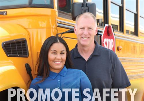 Promote Safety. Photo of School Bus Drivers.