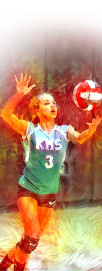 Image of girl with volley ball