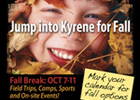 Fall Break is October 7-11. We are offering fun and educational opportunities