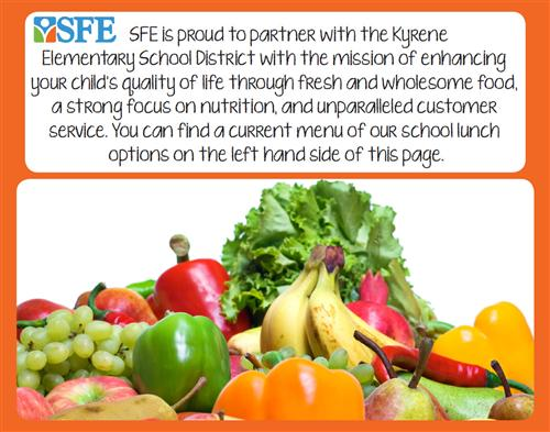 SFE Proud Partner Picture with fruits and Veggies