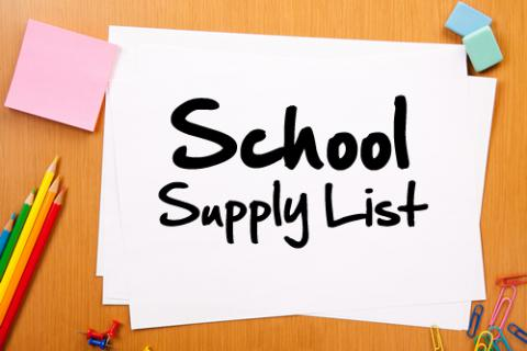 6th 7th and 8th Grade Supply List