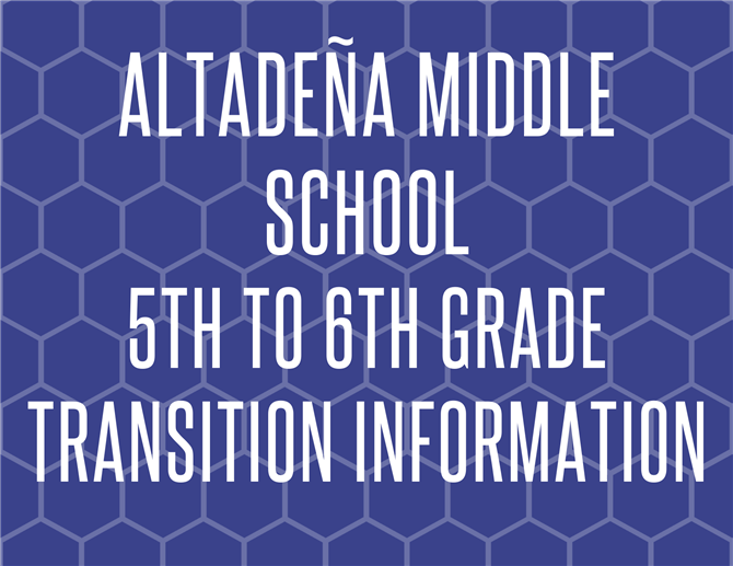 5th to 6th Grade Transition Information