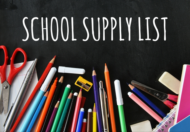 2020-2021 Suggested Supply Lists