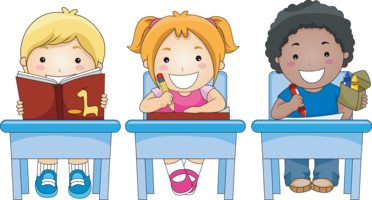 students at desks