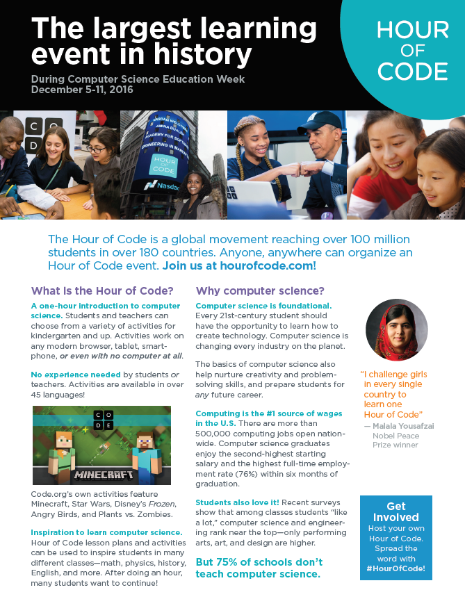 Hour of Code Ad