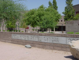 Photo of front of Kyrene Akimel A-al Middle School