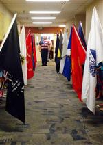 Honor guard in hallway
